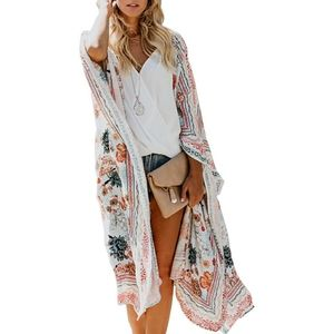 🆕️ Kimono Boho Chiffon Floral Beach Cover up